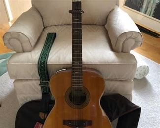 Ventura guitar, mint condition with leather guitar strap