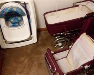 Vintage Pram or Carriage Like New!!! Toddler scooter