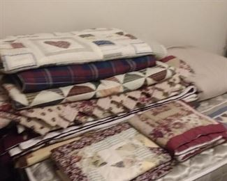 Quilted blankets, throws, shams and much more
