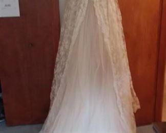 Back of Vintage Wedding Gown