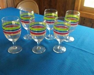 Set of Six Fiesta Glasses