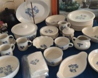 Large Set of Yorktowne Pfaltzgraff Dinnerware Set.  Complete with unique serving pieces.  PLUS 20 pc set (service for 4) NEW IN BOX!
