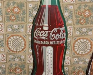 old Coke thermometer