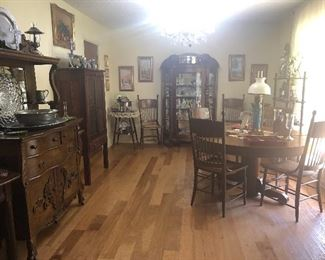 Dining Room full of Antiques and Collectables