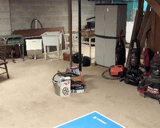 shop vacs, utility sinks, storage, canning