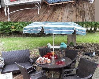 Woodard whicker patio set