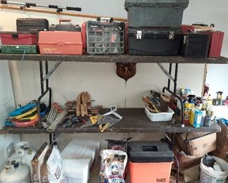tool boxes, Jorgensen wood clamps, Green Lee, Klein Tools, Ideal fish tape