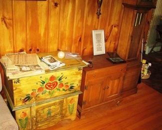 pine commode and other furniture