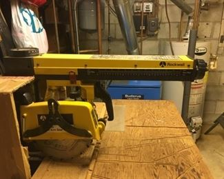 Radial saw side view.
