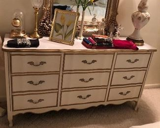 French provincial dresser all drawers are in perfect working order.