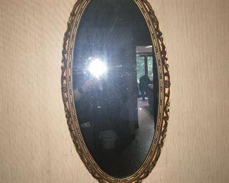 Wall oval mirror