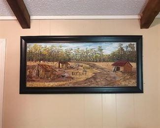 "Robert Miller painting 58"" long"