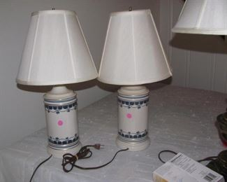 Matching porcelain lamps
