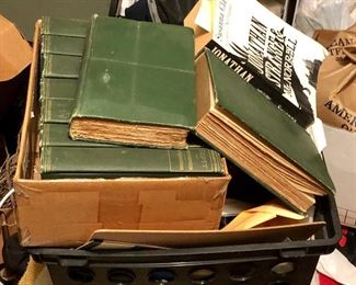 Many old books.