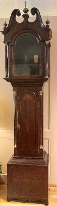 "J.J. Elliott/Harris & Harriman longcase clock. A similar one to this can be seen in the ""White House"" has been checked out by professional clock repairer and is in full working order."