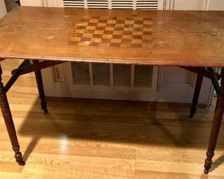 late 1880's Game Table with patent info stamp.