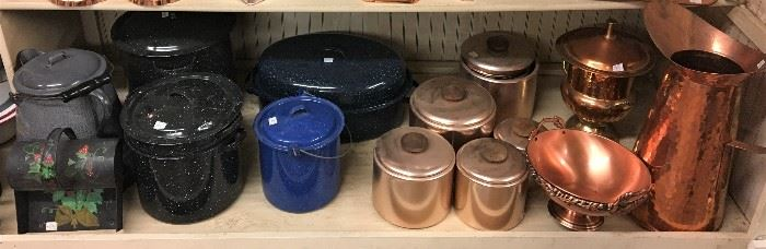 MORE COPPER AND ENAMAL COOKWARE