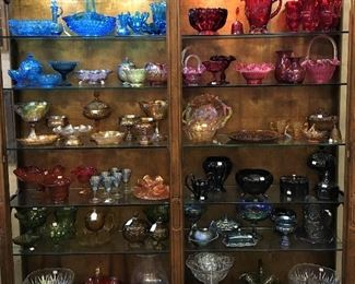 BREATHTAKING FENTON, AMBERINA, CARNIVAL AND MORE GLASSWARE IN MANY COLORS!