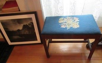 needlepoint bench, Photo of scenery.
