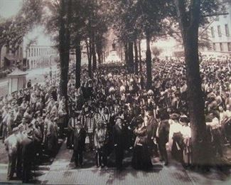In the1890's Buffalo Bill came to Auburn and this is a copy of the photo taken at the time.