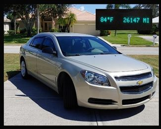 Excellent 2011 Chevy Malibu with Only 26,147 Miles. This Fabulous Vehicle has been Garage Kept, never had pets or children inside; Very Clean and Pristine!