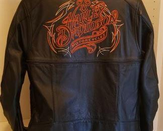180 Harley Davidson Leather Jacket Back SZ Small