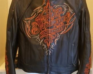 181 Harley Davidson Leather Jacket Front SZ Small