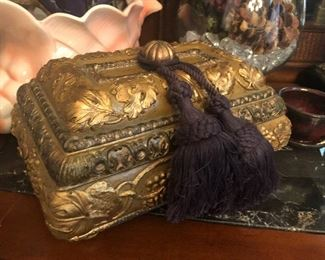 Gold decor box