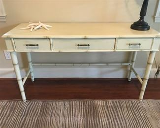 Desk with Bamboo Motif