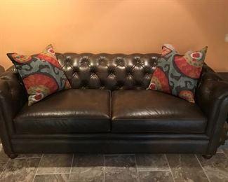 Pottery Barn Leather Sofa