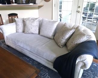 Vintage chenille sofa