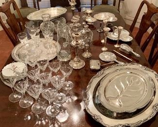 Sterling Silver, Silver-plate & Crystal