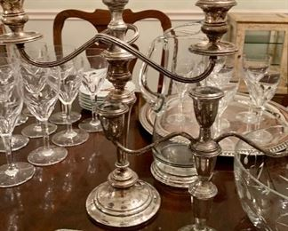 Sterling Candle Holders