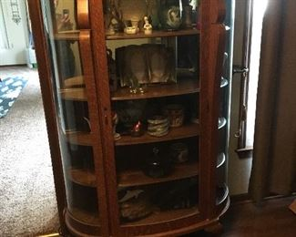 Beautiful China cabinet with Tiger wood