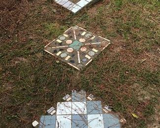 Very unusual tile step stones