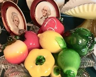 George and Martha enjoyed fooling their guests with this glass fruit... (ok, part of that is made up)
