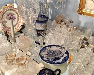 Lots of glassware - cut and pressed - along with a little of everything