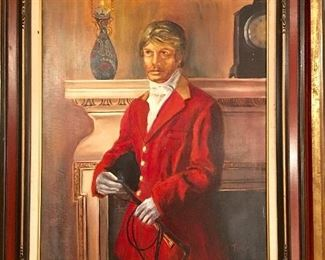 Signed portrait of an equestrian