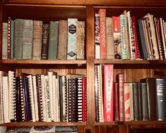 Quantities of cookbooks - many local or vintage