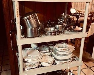 Revereware, Cornningware, Pyrex - lots and lots