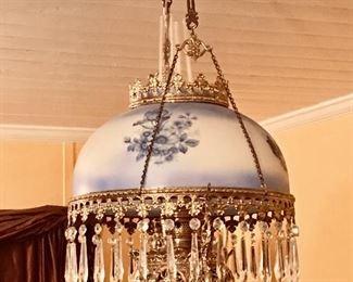 Oil electrified chandelier lamp