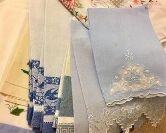 Loads of beautiful linens