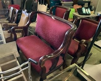 3 piece Empire setter chair and rocker excellent condition and comfortable