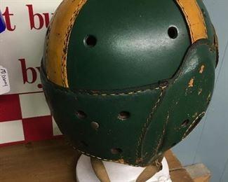Ok leather football helmet