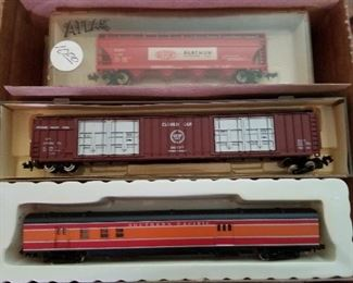 N-Scale Freight Cars and Model buildings