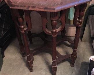 Antigue Hexagon Table