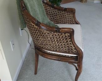Caned Arm  Chair with Cushion