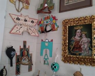 Pueblo Headress, Rattles, Artwork