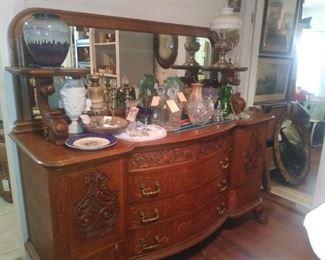 American Tiger Oak Horner Original 1880's