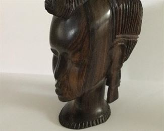 """Beautiful hand carved African woman - approx. 8"""" tall."""